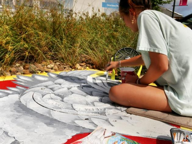 Drain Smart Artists are Painting Storm Drain Murals